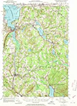 YellowMaps Memphremagog VT topo map, 1:62500 Scale, 15 X 15 Minute, Historical, 1953, Updated 1970, 20.8 x 15.7 in