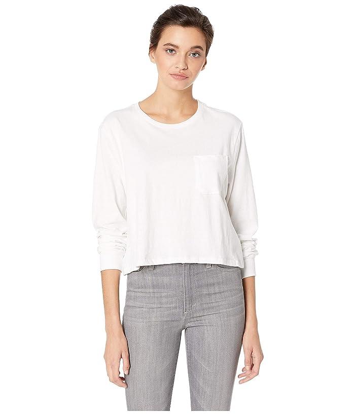 Richer Poorer Long Sleeve Crop (White) Women's T Shirt