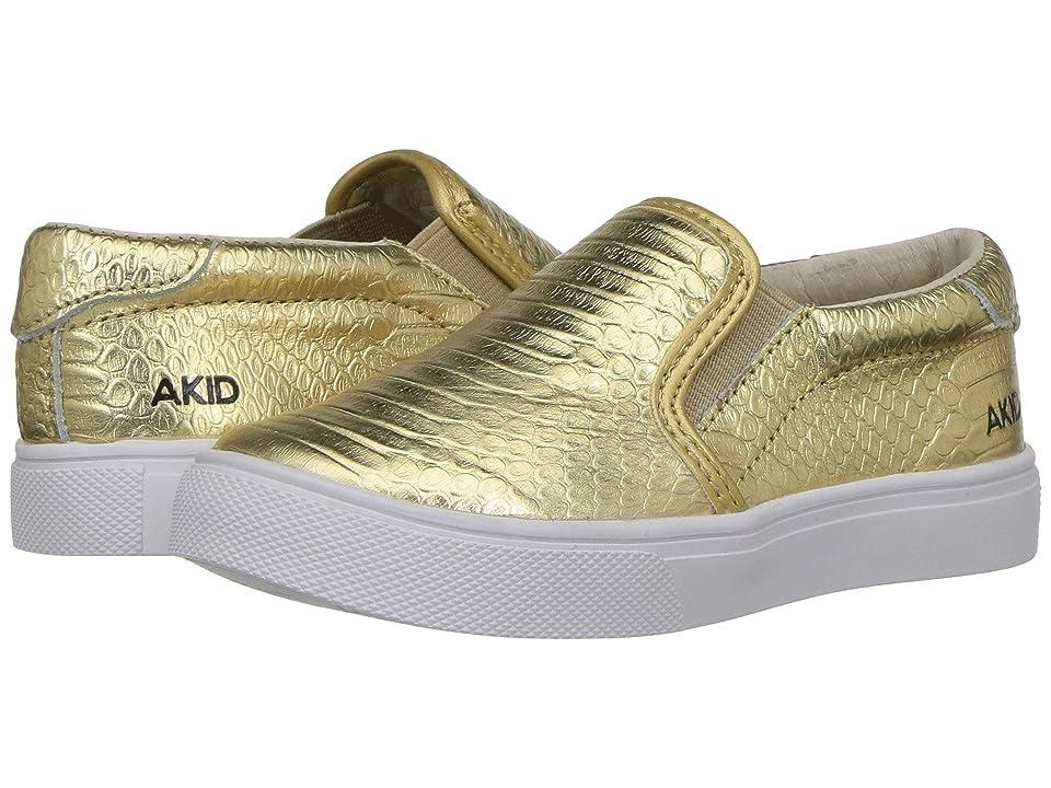 Image of AKID Brand Liv (Toddler/Little Kid/Big Kid) (Gold) Kids Shoes