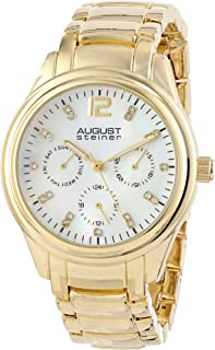 August Steiner Women's Vida Analogue Display Quartz Watch with Alloy Bracelet