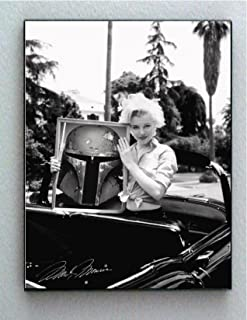 Framed Marilyn Monroe Holding Star Wars Boba Fett Faux Signed Autograph Limited Edition Print