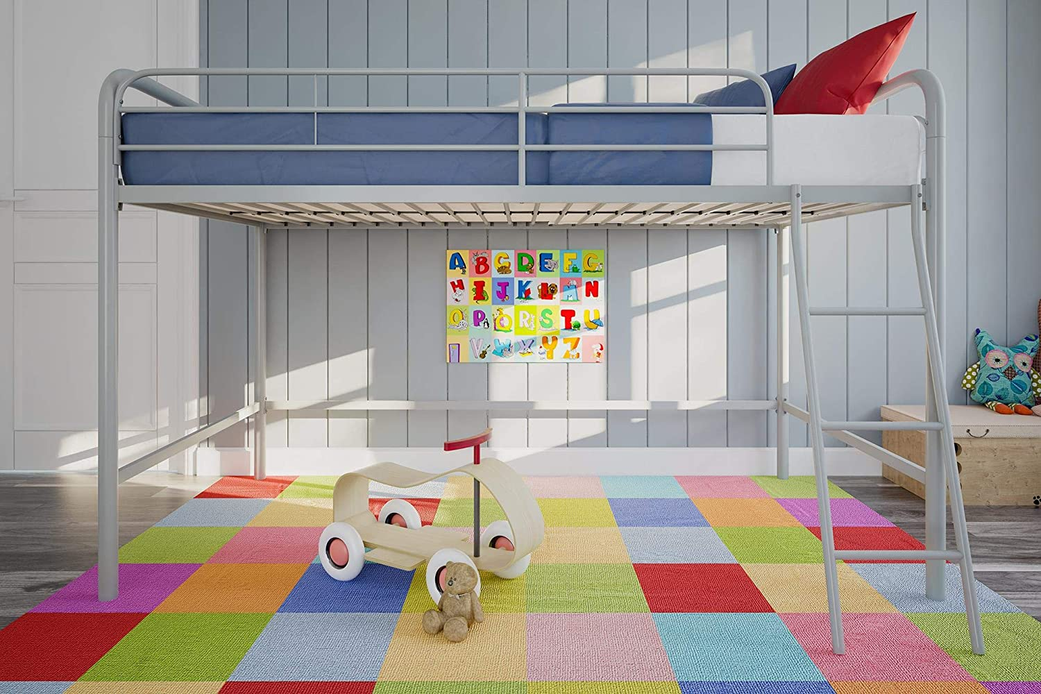 DHP Junior Loft Bed sold out Frame With Silver Ladder Seattle Mall