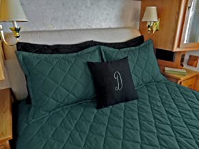 AB Lifestyles Simplicity Classic 3 Camper/RV Piece Bedspread Set (Verdegris (Medium Teal), Short Queen 60x75)