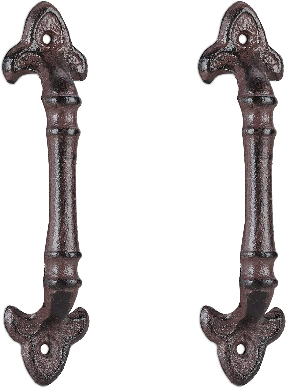 Bronzo 2 Pezzi 20 cm Relaxdays Maniglie Vintage per mobili in ghisa per armadi Porte scorrevoli cassetti