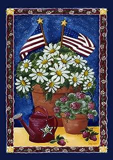 Toland Home Garden American Daisies 12.5 x 18 Inch Decorative Patriotic Summer Daisy Flower USA Garden Flag