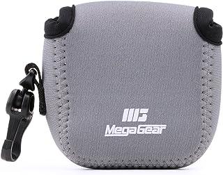 MegaGear MG1314 GoPro Hero 7, Hero 6, Hero 5, Sony DSC-RX0 ultralätt neopren kameraväska, med karbinhake - grå
