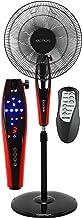Ventilateur sur pied avec télécommande Ø 42 cm | 45 W | 5 hélices | Oscillant | Écran LED | Minuteur 7,5 h | Fonctionnemen...