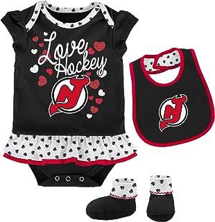 Outerstuff NHL Newborn & Infant Love Hockey Bib & Bootie Set