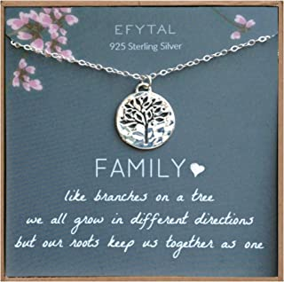 EFYTAL Grandma Gifts, 925 Sterling Silver Family Tree of...