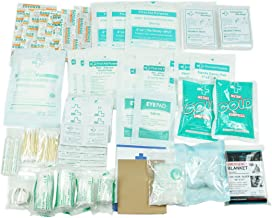 160 Piece First Aid Kit Bag Refill Kit - Includes Eyewash,Instant Cold Pack, Bandages,Emergency Blanket,Moleskin Pad,Gauze - Extra Replacement Medical Supplies for First Aid