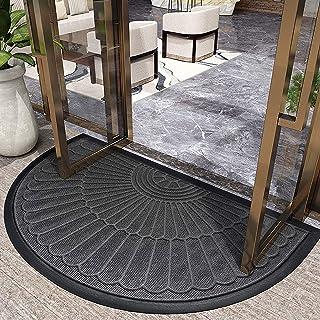 LiQi Semi Circle Home/Entrance/Outside Door Mats, Non-Slip Washable Rubber Doormat, Front Door/Indoor Durable Welcome Mat...