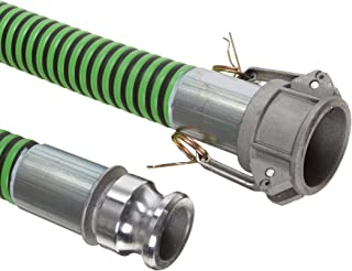 Goodyear EP Green Hornet XF Rubber Suction/Discharge Hose Assembly, 1-1/2 Aluminum Cam And Groove Connection, 50 PSI Maxim...