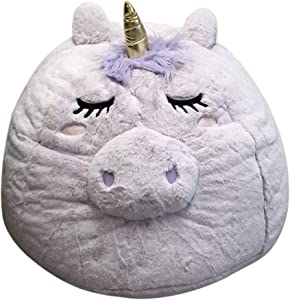 Beanbag For Kids: Soft And Comfortable Stuffed Bean Bag Chair For The Nursery, Cute Animal Design For Boys And Girls, Lux Plush Fabric, For Children Of All Ages 30'' x 30'' x 20'' (Unicorn)