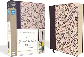 NIV, Journal the Word Bible, Cloth over Board, Pink Floral, Red Letter, Comfort Print: Reflect, Take Notes, or Create Art ...