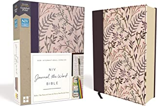 Download Book NIV, Journal the Word Bible, Cloth over Board, Pink Floral, Red Letter, Comfort Print: Reflect, Take Notes, or Create Art Next to Your Favorite Verses PDF