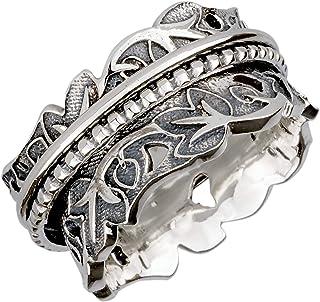Energy Stone Joy & Abundance Sterling Silver Meditation Spinner Ring (Style US74)