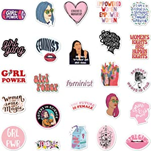 Feminist Stickers| 50 Pcak | Vinyl Waterproof Stickers for Laptop,Bumper,Water Bottles,Computer,Phone,Hard hat,Car Stickers and Decals (Feminist Stickers)
