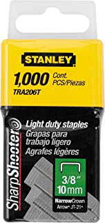 Stanley Tra206T 3/8 Inch Light Duty Staples, Pack of 1000(Pack of 1000)