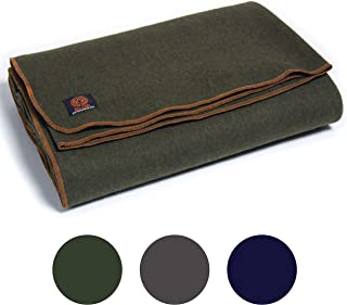 Arcturus Military Wool Blanket - 4.8 lbs, Warm, Heavy, Washable, Large 64