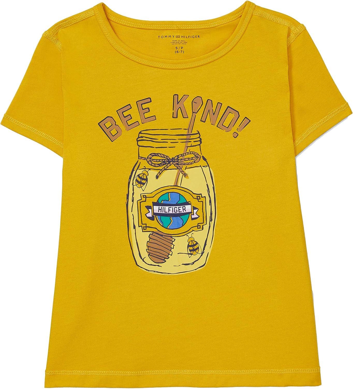 Tommy Hilfiger Girls' Adaptive Sensory Tagless T Shirt