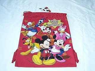 Drawstring Backpack Gym School Sling Tote Gym Bag (Mickey & Friends)
