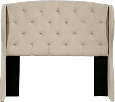 Republic Design House Archer Winged Headboard, Ivory, Eastern King/California King
