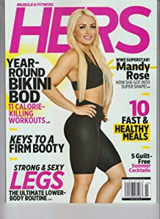 Muscle and Fitness Hers Magazine 2019 Mandy Rose Cover WWE