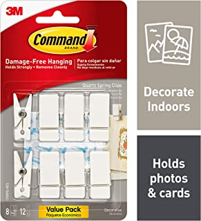 Command Spring Clips, Indoor Use (17089Q-8ES)