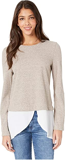 Twofer Flare Sleeve Knit Top