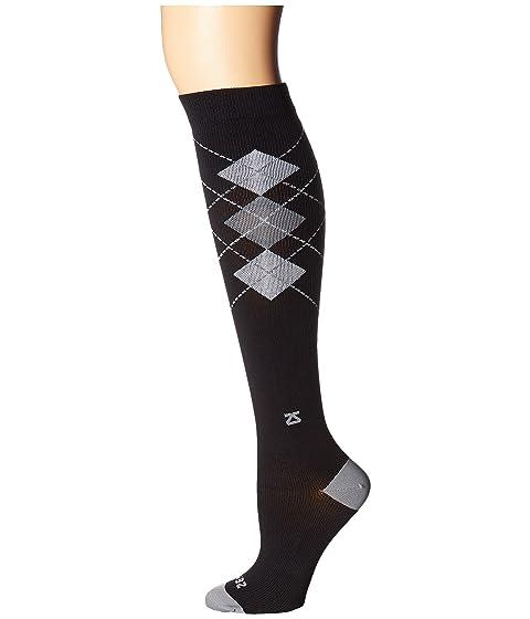 Argyle Classic Negro Fresh Gris de compresión Zensah Legs Calcetines vxwTEqwtZ