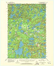 YellowMaps Boulder Junction WI topo map, 1:62500 Scale, 15 X 15 Minute, Historical, 1955, Updated 1972, 21.2 x 17.3 in