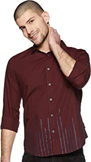 French Connection Men's StripedSlim Fit Casual Shirt