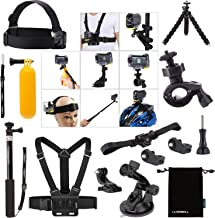 Luxebell Accessories Bundle Kit for Sony Action Camera Hdr-AS15 AS20 AS30v AS50 AS100v AS200v HDR-az1 Mini Fdr-x1000v (14-in-1)