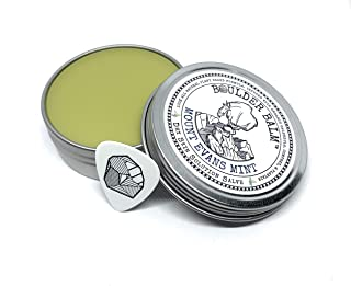 Boulder Balm: Dry Skin Salve for Active Hands & Body Hemp Oil Herb Infused Healing Balm Handcrafted for Rock Climbing (Mount Evans Mint Scent) 2oz Tin