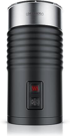 arendo Milkloud - L'Originale Montalatte Elettrico | Schiumatore Latte Caldo e Freddo | 2 Frullini | Spegnimento Automatico | Soft-Touch per Una Presa salda | Antiaderente | Alto 20cm | Nero