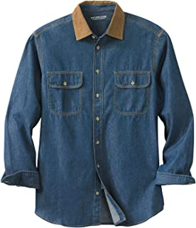 Boulder Creek Men's Big & Tall Long Sleeve Corduroy Collar Renegade Shirt