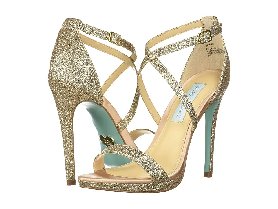 Blue by Betsey Johnson Andi (Champagne Glitter) High Heels