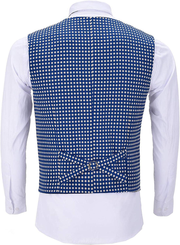 Yiqinyuan Formal Men's Suits Slim Fit Blue Waistcoat Prom Tweed Black Tuxedos Navy Wool Jacket Wedding Groomsmen Vest