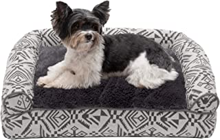 Furhaven Pet Dog Bed   Plush Kilim Southwest Home Decor Pillow Cushion Traditional Sofa-Style Living Room Couch Pet Bed w/...