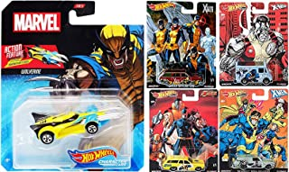 Extending Adamantium Claws Wolverine Character X-Car Bundled with X-Men Collection Premium Pop Culture Rides Team Cars Real Riders Nissan Skyline / Chevy Nova Marvel Super Heroes Die-Cast 5 items