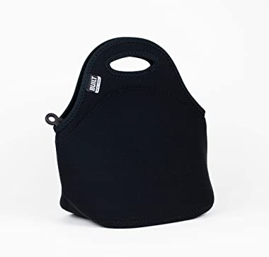 Built NY LB31-BLK Gourmet Getaway Lightweight Insulated Neoprene Lunch Tote Bag, Black