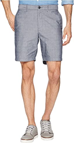 "P55 8"" Dobby Checkered Slim Fit Shorts"