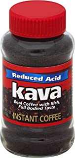 Kava Reduced Acid Instant Coffee, 4 Ounce Jars (Pack of 12)