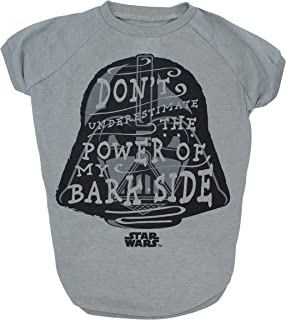 Star Wars Don`t Underestimate The Power of my Bark Side Dog Tee   Star Was Dog Shirt   Small