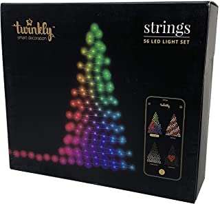 Twinkly 56 LED String Lights | Customizable Wifi-Enabled LED Lights