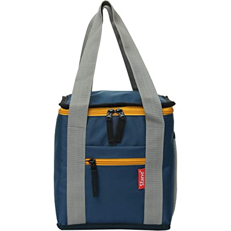 Sfane Men & Women Blue Insulated Lunch Bag - Compact, Easy Wash, Smooth Zipper & Lightweight - Tote Bag & Container, Lunch Bag for Men, Women, Adults Office Lunch/Tiffin Bag