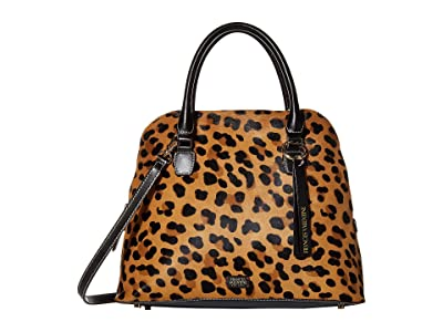 Frances Valentine Rachel Double Handle Satchel (Leopard) Handbags
