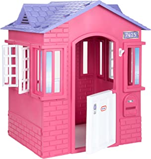 Little Tikes Cape Cottage House, Pink with Working Doors, Working Window Shutters, Flag Holder, Easy Installation Process,...