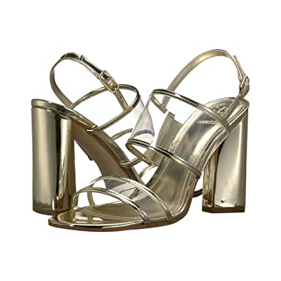 GUESS Amidala (Clear/Gold Synthetic) High Heels
