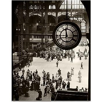11x14 Unframed Print Perfect Vintage Home Decor New York City Penn Station 1924 Print